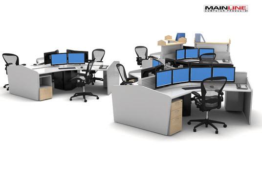 Multi Monitor Trading Desks Mainline Computer