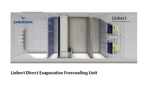 Air Handling Evaporative Cooling : Liebert direct evaporative freecooling unit mainline